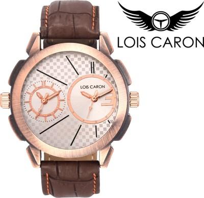 Lois Caron LCS-4098 DUAL TIME Analog Watch  - For Boys, Men