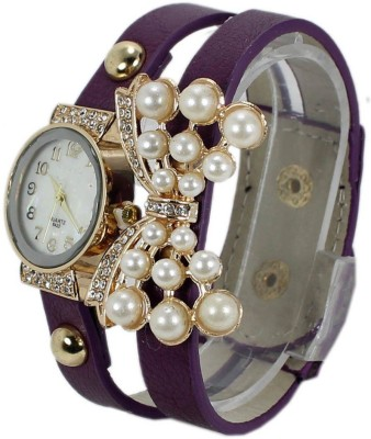 KMS Yilisha_Diamond_Butterfly_Purple Analog Watch  - For Women, Girls