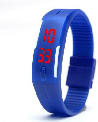 Fancy Blue Led Bracelet Digital Watch  - For Boys, Men