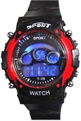 Crazeis WT-MDCH2RD Digital Watch  - For Girls