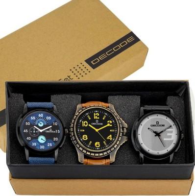 DECODE Combo of Three Elegant Watches - DC10107 Analog-Digital Watch  - For Men