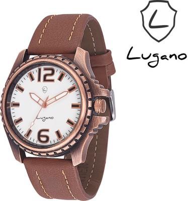 Lugano DE10030DE Antique Series Analog Watch  - For Men, Boys