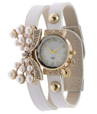 KMS Yilisha_Diamond_Butterfly_White Analog Watch  - For Women, Girls