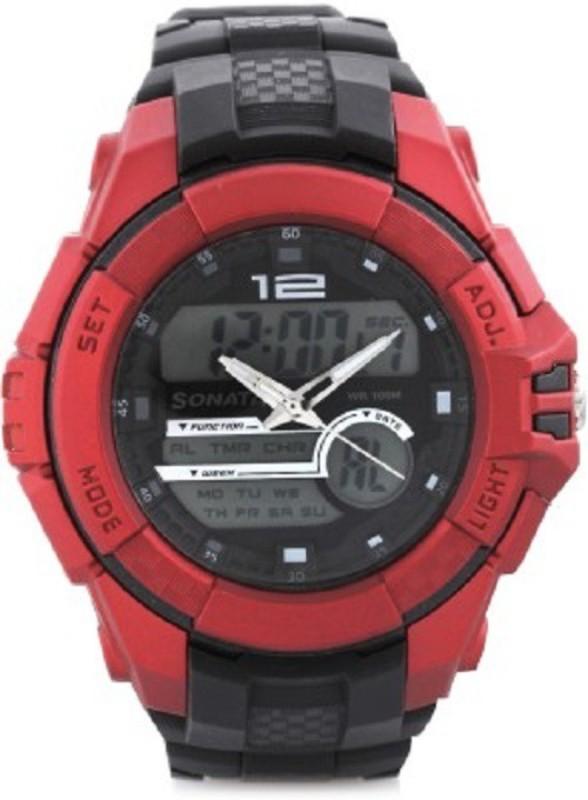 Sonata super fibre ocean III Analog Digital Watch For Men