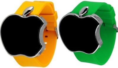 STOP2SHOP Metallic Apple Shape Touch Screen LED Digital Watch  - For Boys