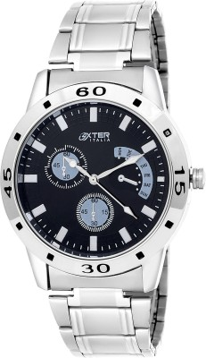 Oxter Exantia Corporate Black Chronograph Pattern Analog Watch  - For Men, Boys