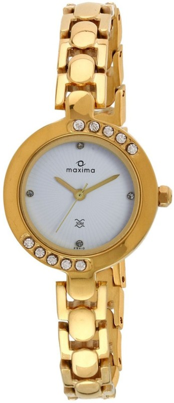 Maxima 29410BMLY Swarovski Analog Watch For Women