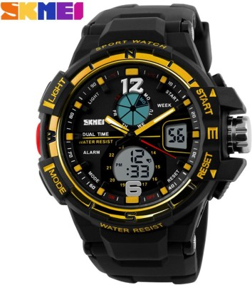 Skmei Gmarks-8411-Gold Analog-Digital Watch - For Men & Women