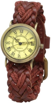 krazykart Brown-Poni-Tail Analog Watch  - For Women