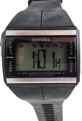 Style Feathers SF-BlackSqure Digital Watch  - For Men
