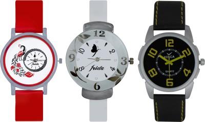 Frida Designer VOLGA Beautiful New Branded Type Watches Men and Women Combo759 VOLGA Band Analog Watch  - For Couple