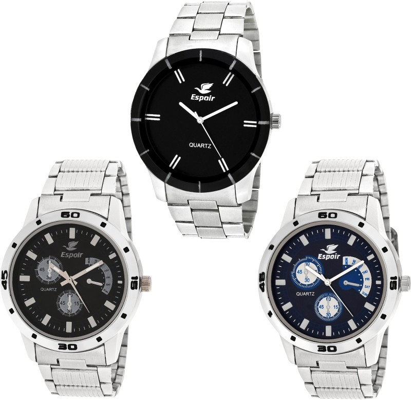 Espoir Combo Espoir ES109B Bahu Chronograph Pattern Analog Watch