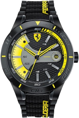 Scuderia Ferrari 0830266 Red Rev Evo Analog Watch  - For Men