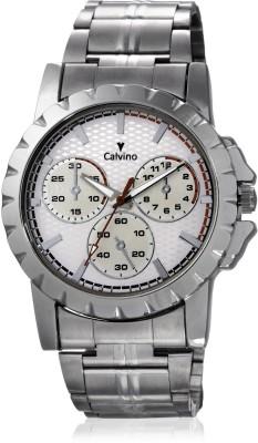 Calvino CGAC-147019AT_White-checkered Analog Watch  - For Men