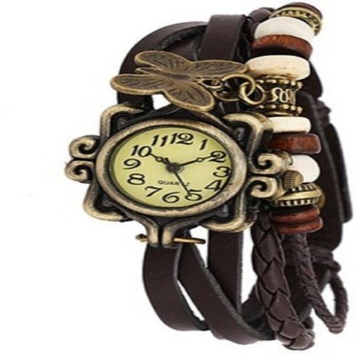 krazykart Butterfly-Brown Analog Watch  - For Women