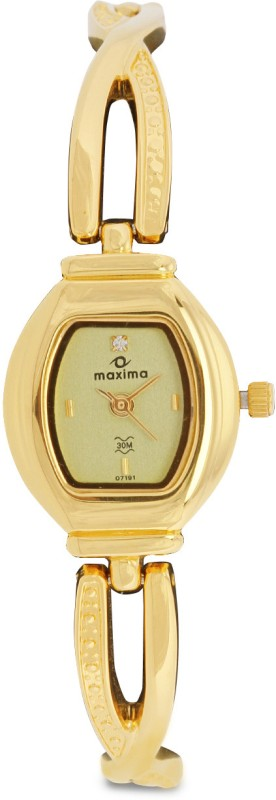 Maxima 07191BMLY Gold Analog Watch For Women