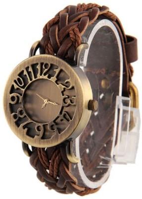 Nyalkaran Leather Brown Analog Watch  - For Girls, Boys, Men, Women