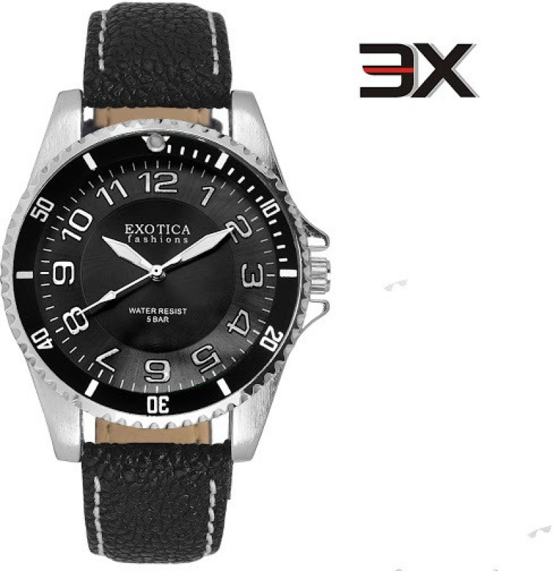 Exotica Fashions EFG 70 LS Z Black New New Series Analog Watch