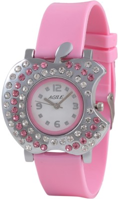 Agile AG_219 Lether Strap Analog Watch  - For Women