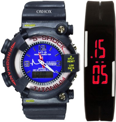 OXHOX Combo deal 4 Analog-Digital Watch  - For Couple