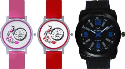Frida Designer VOLGA Beautiful New Branded Type Watches Men and Women Combo618 VOLGA Band Analog Watch  - For Couple