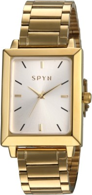 Spyn classic square design golden belt casual Analog Watch  - For Boys, Men