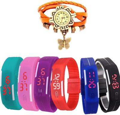 MIFY MFY308_BLK_BLU_CYN_PNK_PRPL_RD_(V)ORNG Analog-Digital Watch  - For Boys, Couple, Girls, Men, Women