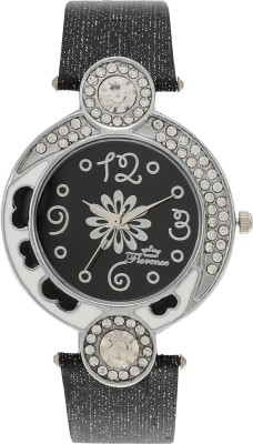 Florence F-BLK-SLV-072 Analog Watch  - For Women