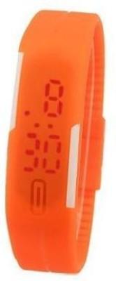 i-gadgets silicon orange led Digital Watch  - For Boys, Men