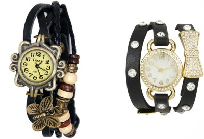COSMIC COSMIC PACK OF 2 BRACELET WATCHES FOR WOMEN WITH CUTE PENDANTS X-012 Analog Watch  - For Women