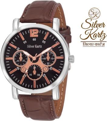 Silver Kartz Chronograph Stylish Dome Decker Analog Watch  - For Boys, Men
