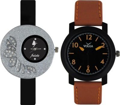 Frida Designer VOLGA Beautiful New Branded Type Watches Men and Women Combo13 VOLGA Band Analog Watch  - For Couple