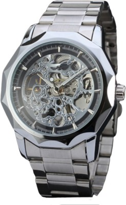 Winner Supper Luxury Trendy Mechanical (Without Battery For Life)! W004 Analog Watch  - For Men