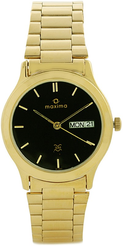Maxima 01382CMGY Gold Analog Watch For Men