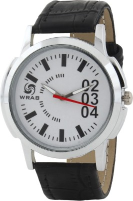 Wrab 2-3-4-wht-blk Analog Watch  - For Men