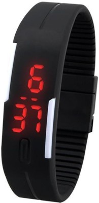 Felix Led Black Rubber Digital Watch  - For Boys, Men, Girls, Women