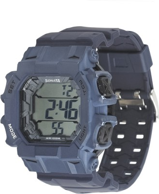 Sonata NH77025PP03 Superfibre Digital Watch - For Men, Women