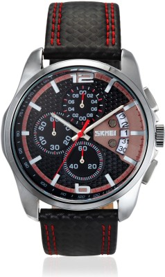 Skmei 9106CL-Red Formal Analog Watch - For Men, Boys