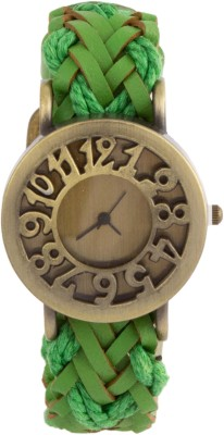COSMIC Leather Green Strap Analog Unisex Watch Analog Watch - For Girls, Women