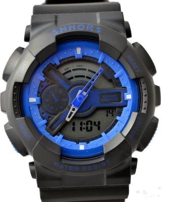 SHHORS New Waterproof LED Quartz Alarm Date Sports Analog-Digital Watch  - For Boys, Men, Girls