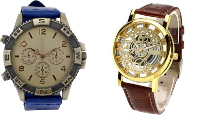 Cosmic DIRECTION BLUE AND BROWN TRANSMECH Analog Watch  - For Boys, Girls, Women, Couple, Men