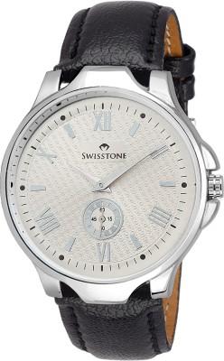 SWISSTONE GR022-SLV-BLK Analog Watch  - For Boys, Men