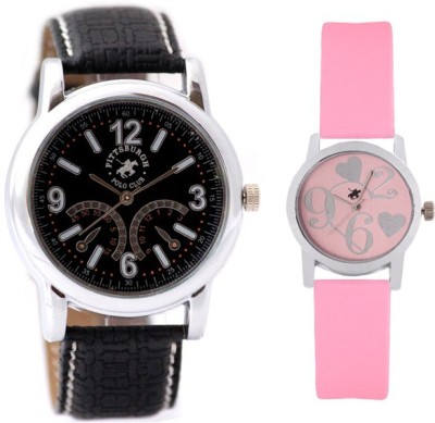 Pittsburgh Polo Club PBPC-CB-9227 Analog Watch  - For Couple