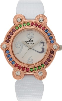 Florence FL-WHT-GLD-F-073 Analog Watch  - For Women