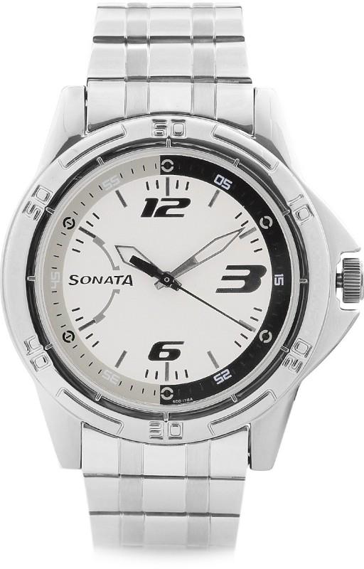 Sonata NG77001SM02 Analog Watch For Men