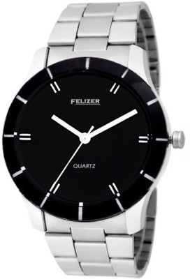 Felizer Steel Black Dial Analog Watch  - For Boys, Men