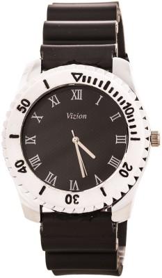 Vizion VSS-01BLACK Sports Design Analog Watch  - For Men, Boys