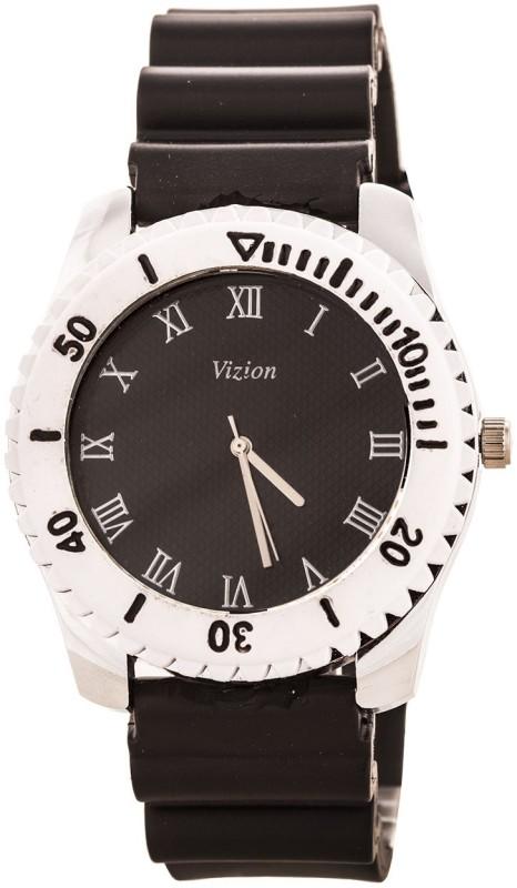 Vizion VSS 01BLACK Sports Design Analog Watch For Men