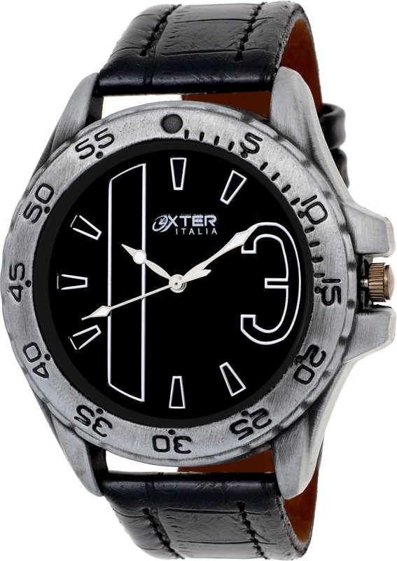Oxter Silver Black Modest Analog Watch For Men
