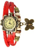 Swiss Rock Vintage-Red Analog Watch  - F...